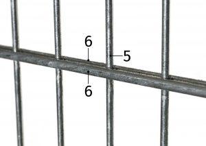 6-5-6 Doppelstabmatte