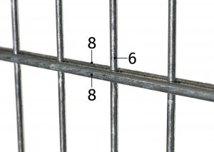 8-6-8 Doppelstabmatte