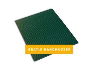 Moosgrünes Handmuster für Sichtschutzzäune